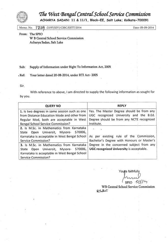 Recruitment rules we the teachers joining report application formats all two degrees in same session are valid in ssc rti letter spiritdancerdesigns Choice Image